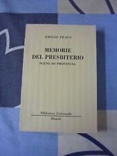 MEMORIE DEL PRESBITERIO EMILIO PRAGA