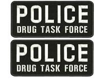 POLICE DRUG TASK FORCE EMBROIDERY PATCHES 4X10  WITH  HOOK on back