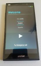 ZTE Grand X Max Z787 8GB Black (Cricket) used mint great unchecked imei