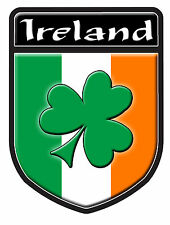 IRELAND SHAMROCK  DECAL SIZE 100MM BY 130MM