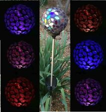 Solar Powered Glass Ball Garden Stake Outdoor Lamp Color Changing Yard LED Light