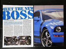 2006 Ford Boss 302 Mustang - 4-Page Article - Free Shipping