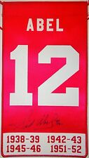 SID ABEL DETROIT RED WINGS AUTOGRAPHED RETIREMENT BANNER