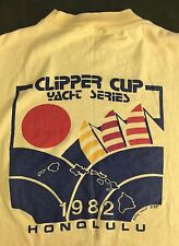 True Vintage 1982 Clipper Cup Honolulu Hawaii Yacht Series Yellow T-Shirt M