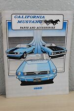 California Mustang Parts & Accessories Catalog Spring 1985 Softcover C3
