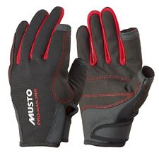 MUSTO ESSENTIAL SAILING LONG FINGER GLOVES AS0803 BLACK NEW M  XL