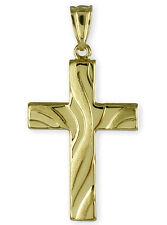 ECHT GOLD *** Kreuz Anhänger Kettenanhänger 34 mm