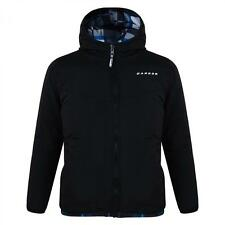 Dare2b Shatter Reversible Boys Jacket Black with Blue / White check reverse