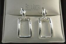 Stunning 925 Sterling Silver Square Drop Earrings - New - 05
