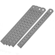 5 Pcs Dual Side Marked 15cm 6 inch Stainless Steel Straight Ruler LW