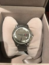 YA126301 Gucci G-Timeless Anthracite Dial Mesh Bracelet Men's Watch Used