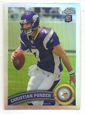 2011 Topps Chrome - Refractor - #165 - Christian Ponder - Minnesota Vikings