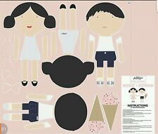 Rosie and rowan- Riley blake -doll fabric- Cotton print Quilting Panel