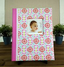 NEW Carters Pink Pretty Patterns Floral Damask Baby Girl Memory Keepsake Book