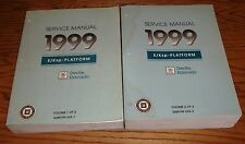 Original 1999 Cadillac DeVille Eldorado Shop Service Manual Vol 1 & 2 Set 99