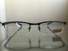 bagsclothesetc: NEW J. SLOANE 3829 Mens Brown Metal Semi Rimless Eyeglass Frames