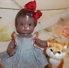 "PATSY Composition EFFANBEE 30's Chocolate AA doll 13"" factory original outfit"