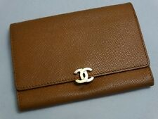 US SELLER!!! WOW!!! Authentic CHANEL WALLET BROWN LEATHER COCO LOCK!!!