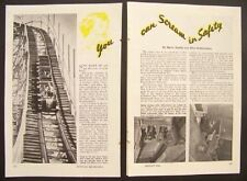 Coney Island Thrill Rides 1949 vintage pictorial Cyclone - Gyro - Wonder Wheel