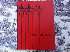 LENHARDT'S  MENU RESTAURANT WINE CELLAR COCKTAIL LOUNGE CINCINNATI HISTORY