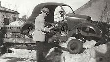 Post WWII German RP- Ex Army Soldier- Auto- Car- KFZ- Destroyed- Spare Parts