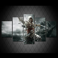 Assassin creed Canvas Print poster decor in 5 pieces