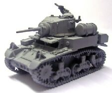 Milicast BA52 1/76 Resin WWII US M3A1 Light Tank w/External Auxiliary Fuel Tanks