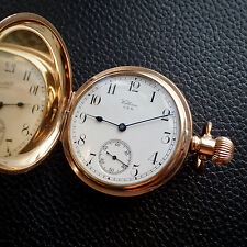 Waltham USA 1907 Full Hunter Star Regulator Dennison 9ct Gold gp Pocket Watch