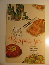 VINTAGE 7-UP GOES TO A PARTY ! RECIPE BOOK
