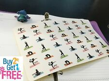 PP032 -- Small Yoga Life Planner Die-cut Stickers for Erin Condren (42 pcs)