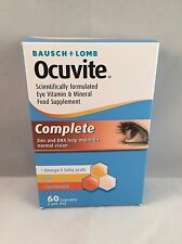 Bausch + Lomb Ocuvite Complete Eye Vitamin & Mineral Food Supplement 60 Capsules