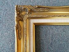 Picture Frame- Vintage Antique Ornate Bright Gold Linen Classic Style 20 x 24