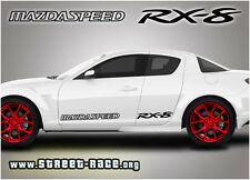 Mazda RX8 Mazdaspeed stickers decals graphics vinyl logos