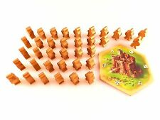 Catan: Traders & Barbarians 5e Barbarian Attack Pieces & Castle Hex Set 37pc