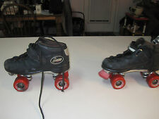 Mens Riedell Carrera Speed Skates, Size 8, Sure Grip Super X 6L plates, NICE