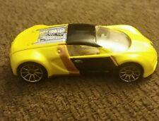 RARE Loose Hot Wheels 2007 Mystery Car Bugatti VEYRON Yellow Black Gold Spokes