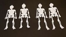 Halloween Plastic Skeletons,Basic,WHITE,Qty 4,Spooky,Scary,Creepy,New,Decoration