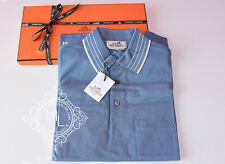 NEW HERMES 35% OFF MENS SPORTS BLUE WHITE STRIPE POLO SHIRT S SMALL SWEATER TOP