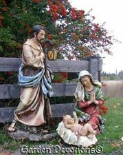 3pc BEST NATIVITY SET YET! 39'' Scale FULL COLOR OUTDOOR YARD GARDEN Statue