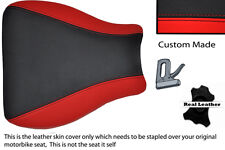 BLACK & RED CUSTOM 95-97 FITS KAWASAKI NINJA ZX6R 600 FRONT LEATHER SEAT COVER