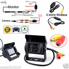 12V-24V Car/Truck Rear View Backup Camera Waterproof Night Vision Wireless Tools