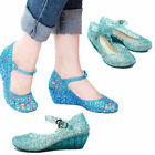 Fashion Kids Jelly Shoes Toddler Girls Summer Princess Hole Cos Dance Sandals