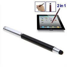 2 in1 Universal Touch Screen Pen Stylus For iPhone iPad Samsung Tablet Phone PC