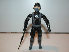 GI JOE BLACK MAJOR CUSTOM - BLACK COBRA SKULL TROOPER 100% COMPLETE C9+