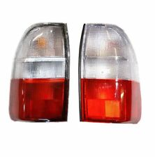 Pair Of Rear Tail Lamps LH+RH For Mitsubishi L200 K74 2.5TD 96-06 Clear Top Lens