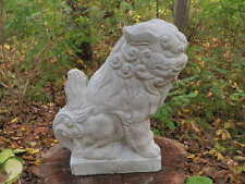 "Cement 10"" Tall Chinese Foo Dog Garden Art Statue Concrete Asian"