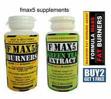 FMAX5 FAT BURNERS & GREEN TEA COLON CLEANSE SLIMMING WEIGHT LOSS DIET PILLS MAX
