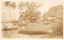 CRISTALES, HONDURAS, RIVER SCENE, HOMES, PEOPLE, BOATS, REAL PHOTO PC, c. 1930's