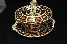 Royal Crown Derby 1128 Old Imari Tureen Bowl and Lid. Large Base Plate Wild