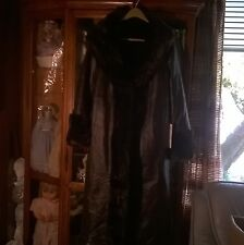 GENUINE LEATHER AND FAUX MINK FUR COAT REVERSABLE  EXCELLED COLLECTION ON SALE